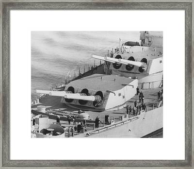 U.s.s. New Jersey Framed Print by Retro Images Archive