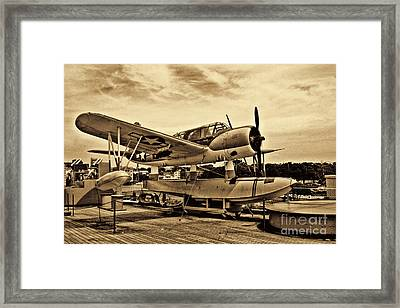 Uss North Carolina Framed Print by Tommy Anderson
