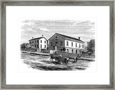 Utah Salt Lake City, 1858 Framed Print