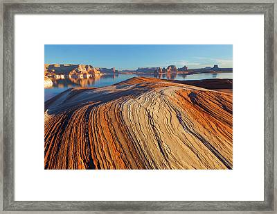 Utah Weathering Pit Ridge At Lake Framed Print