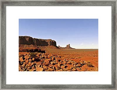 Utah's Iconic Monument Valley Framed Print by Christine Till