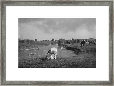 Ute Squaw And Papoose Framed Print by Retro Images Archive