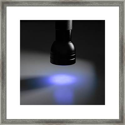Uv Torch Framed Print by Science Photo Library
