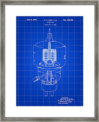 Vacuum Tube Patent 1942 - Blue Framed Print by Stephen Younts