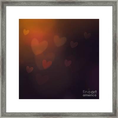 Valentines Background Framed Print by Mythja  Photography