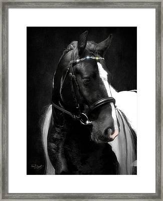 Valentino's Bling Framed Print by Fran J Scott