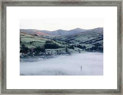 Valley Mists Framed Print