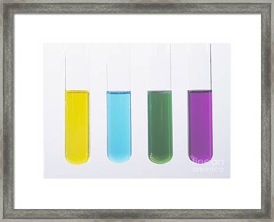 Vanadium Oxidation States Framed Print