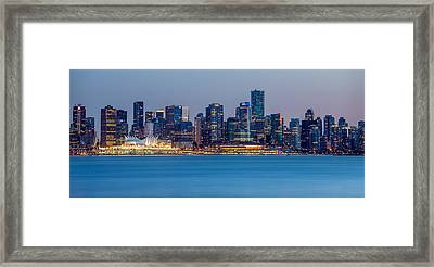 Vancouver City Panorama Framed Print by Pierre Leclerc Photography
