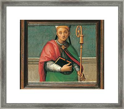 Vannucci Pietro Known As Perugino Framed Print by Everett
