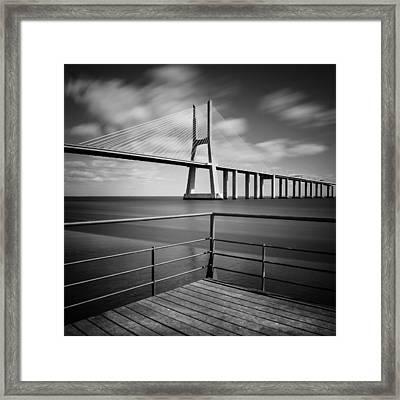 Vasco Da Gama Bridge Framed Print by Nina Papiorek