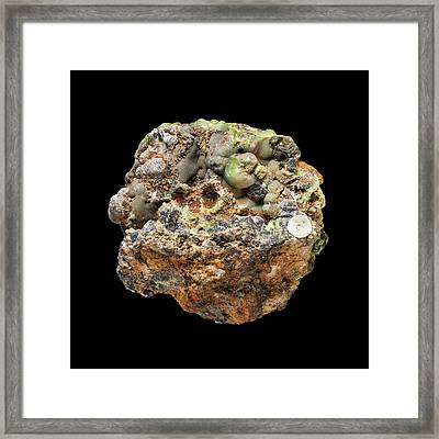 Vauquelinite Framed Print by Natural History Museum, London