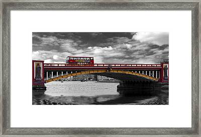 Vauxhall Bridge Thames London Framed Print by David French