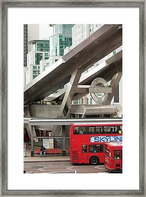 Vauxhall Bus Station Framed Print