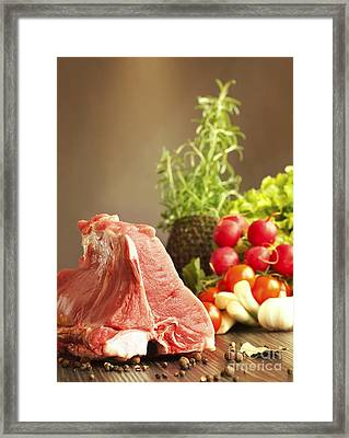 Veal Chops Framed Print by Mythja  Photography