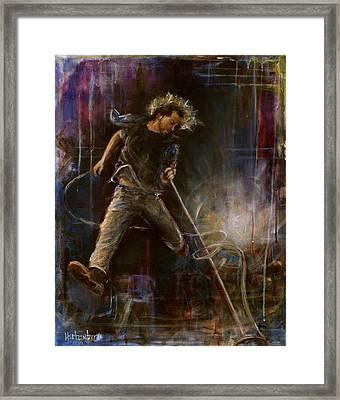 Vedder Framed Print by Josh Hertzenberg