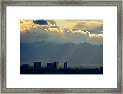 Vegas Sunset After The Storm Framed Print
