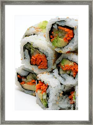 Vegetable Sushi Framed Print by Amy Cicconi
