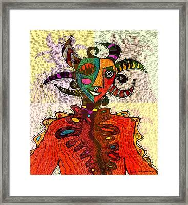 Vejigante A La Bolla Framed Print by Sandra Perez-Ramos