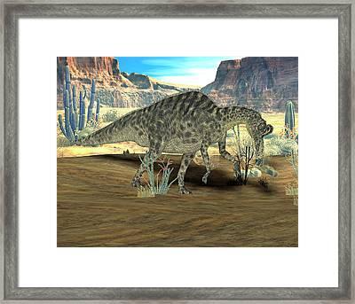 Velafrons Dinosaur Framed Print