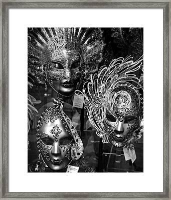 Venetian Carnival Masks Framed Print by Tom Bell