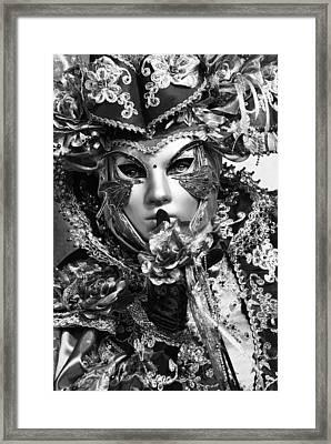 Venetian Mask Framed Print by Yuri Santin