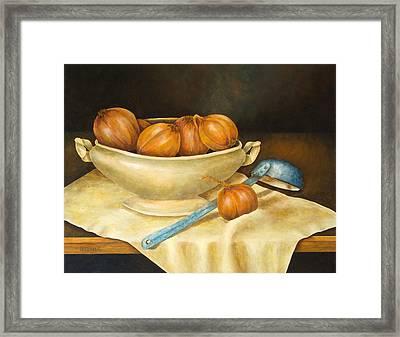 Venetian Table Framed Print by Pamela Allegretto
