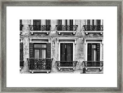 Venetian Windows Framed Print