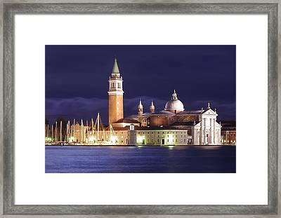 Venice At Night Framed Print by Ioan Panaite