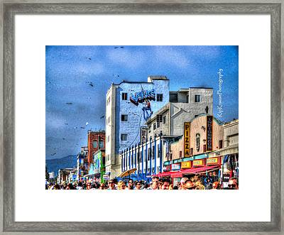 Venice Beach Boardwalk Framed Print by Kip Krause