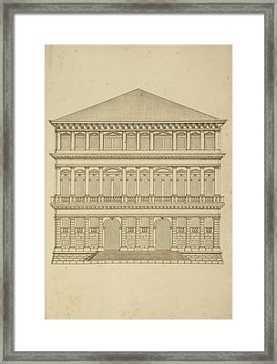 Venice Building Facade Framed Print