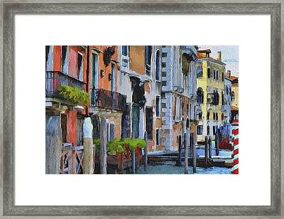 Venice Canals Watercolor 6 Framed Print by Yury Malkov