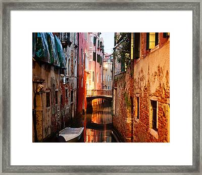 Framed Print featuring the photograph Venice Italy Canal by Kim Fearheiley