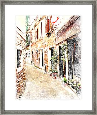 Venice Streets 1 Framed Print