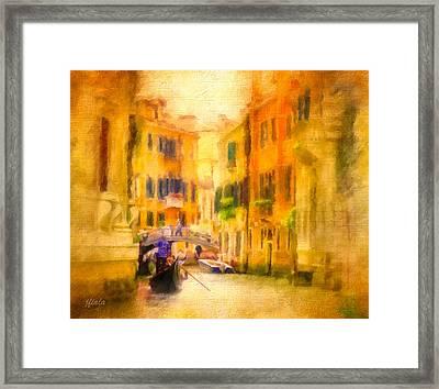 Venice Waterway No. 4 Framed Print by Jane Fiala