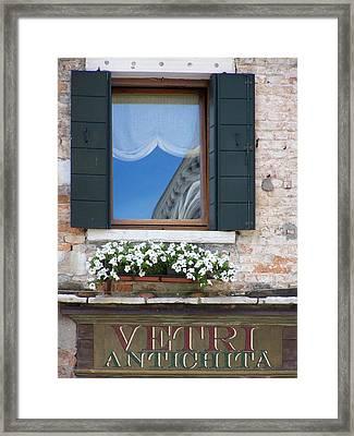 Venice Window Framed Print