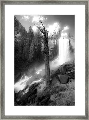 Vernal Waterfall Framed Print