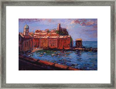 Vernazza From The Train Framed Print by R W Goetting