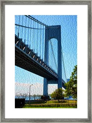 Verrazano Bridge Framed Print