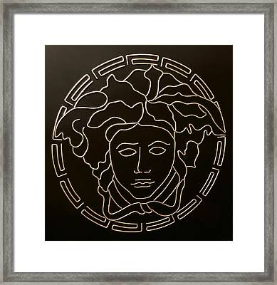 Versace Medusa Head Framed Print by Peter Virgancz