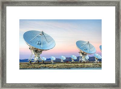 Very Large Array Of Radio Telescopes  Framed Print by Bob Christopher
