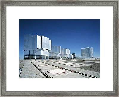 Very Large Telescope (vlt) Framed Print by European Southern Observatory