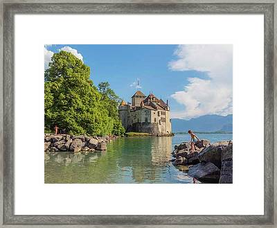 Veytaux, Switzerland. Chateau De Framed Print