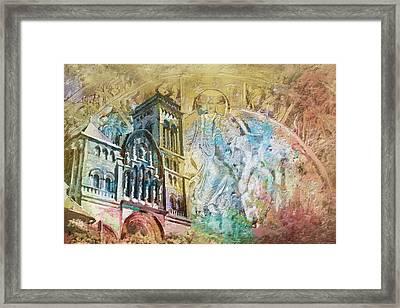 Vezelay Church And Hill Framed Print