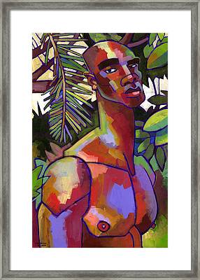 African Forest Framed Print by Douglas Simonson