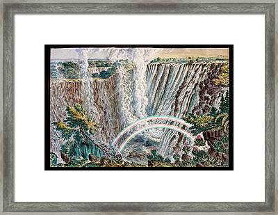 Victoria Falls Rainbows Framed Print by Gustoimages/science Photo Libbrary