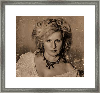 Framed Print featuring the photograph Victorian Portrait by Ray Congrove