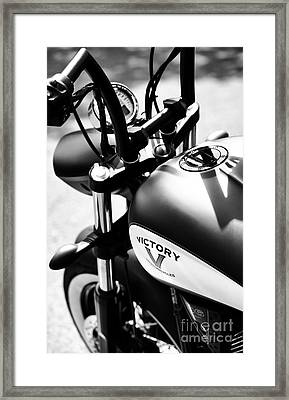 Victory Motorbike Framed Print by Tim Gainey