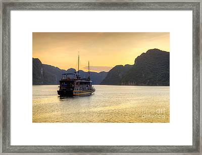 Vietnamese Junks On Halong Bay Vietnam Framed Print by Fototrav Print