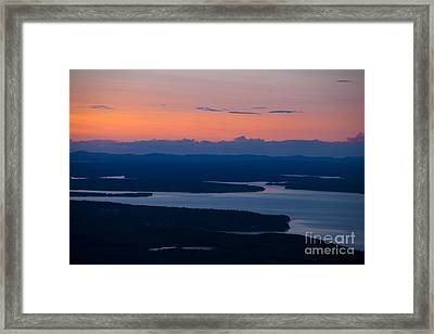 View From Cadillac Mountain Framed Print